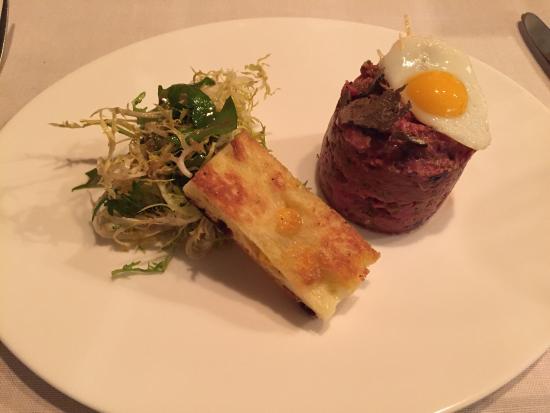 Restaurant Sitzwohl: Beef Tartar