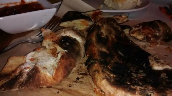 Romano's Macaroni Grill: Burnt Fatbread