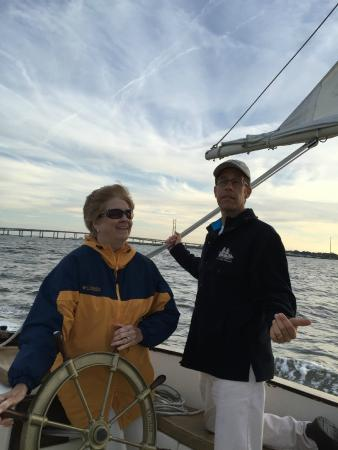 """Discovery Beach Resort: Sailing with captain Greg on His sail boat """"Freedom"""". It was great fun!!"""