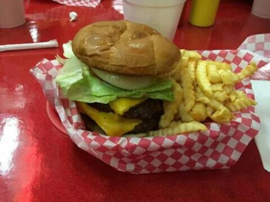 Billy Bob Dairyland : My husbands double cheese burger basket. Submitted by:mmiranda