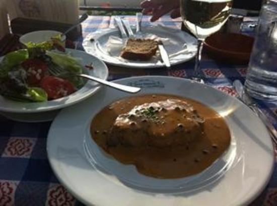 Hotel Haus Lipmann: Pepper Steak... YUM!