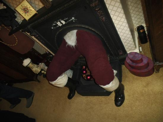 The Hall at Abbey-Cwm-Hir: Santa!