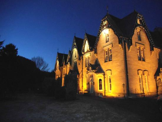The Hall at Abbey-Cwm-Hir: Outside photo when leaving! Beautiful!