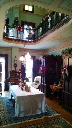 Dewitt County Museum: Two story library at the CH Moore Homestead