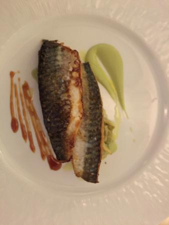 Antico Arco: Frizzled mackerel on artichoke