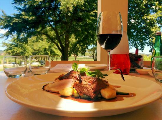 Cuvée Restaurant at Simonsig: Springbok. Fantastic.