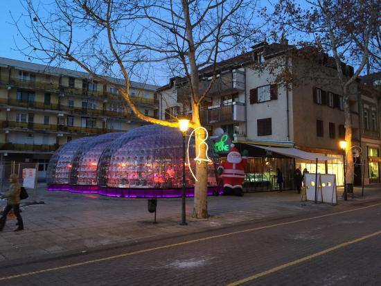 Bekescsaba, Hongrie : Bubble tent during winter season