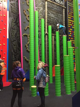 Clip 'n Climb Exeter: We called this one the tins of beans!