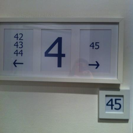 Bastille de Launay Hotel: Your room number, framed