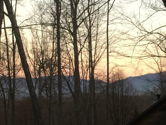 Asheville Cabins of Willow Winds: View from Kaitlin's Hemlock