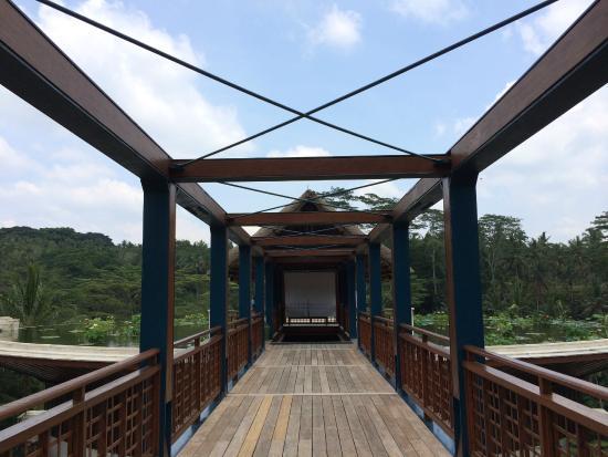 bridge entrance over river