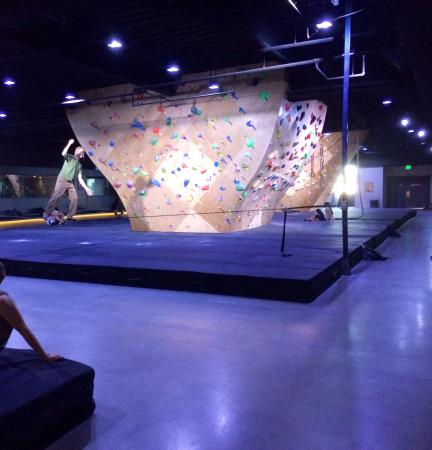 Some of the climbing walls