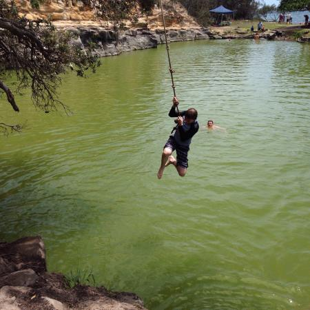 Angourie, Australia: Other pool is a little green but no signs to say it was not safe to swim