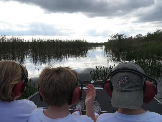 Airboats & Alligators: Headset to protect ears