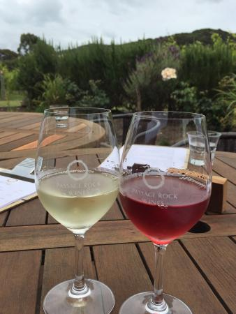 Passage Rock : A glass of beautiful Waiheke Island Sauvignon Blanc and a delicious Rosé.