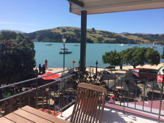 Akaroa Restaurant and Bar: The view from our room today