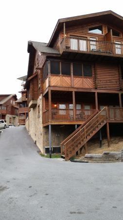 Rocky Top Condos: view from front door of cabin