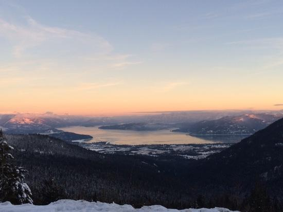 Sandpoint, ID: On Top, Looking Down the Mtn.