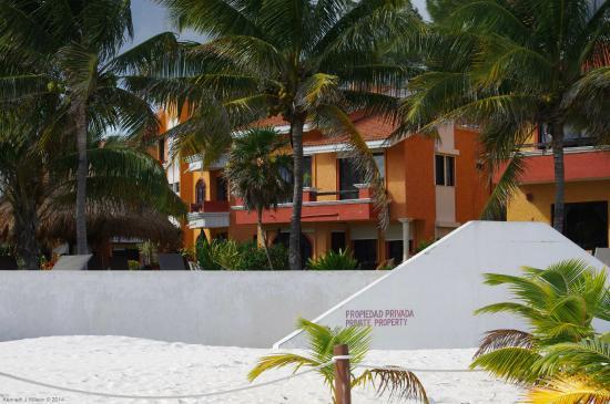 Villas Playasol as seen from beach