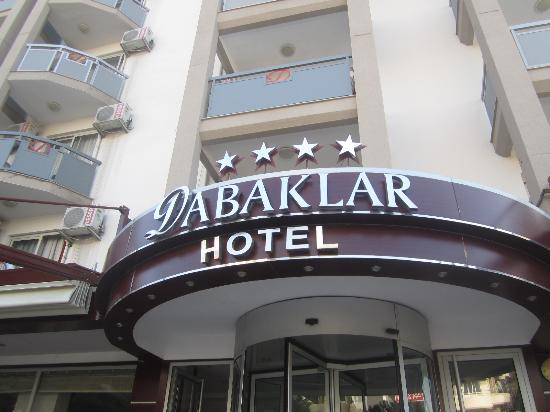 Dabaklar Hotel : the hotel front entrance.