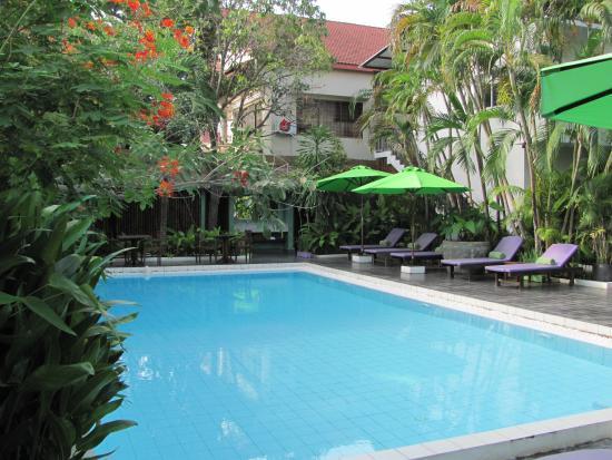 Samsara Villa : Pool and garden area