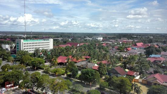 Aquarius Boutique Hotel: View from room 919. Palangkaraya city.