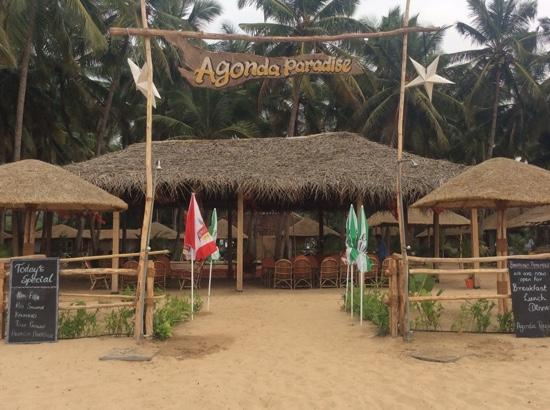 Agonda Paradise: entrance from beach side