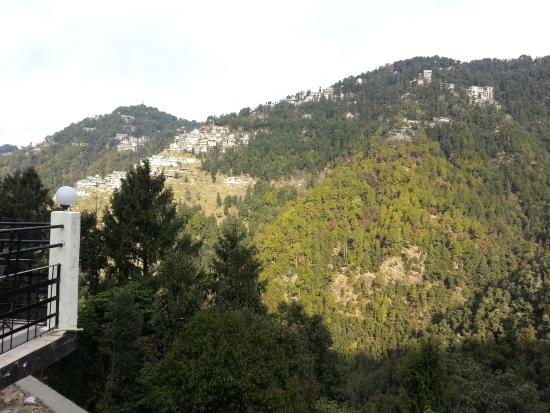 Peace Channels Dalhousie Resort : hills view from terrace