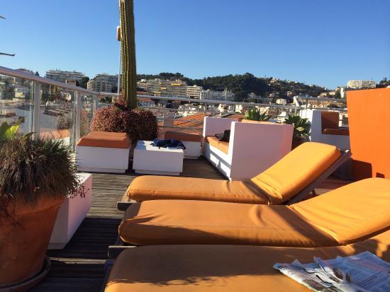 Spity Hotel Nice : La terrasse sur le toit