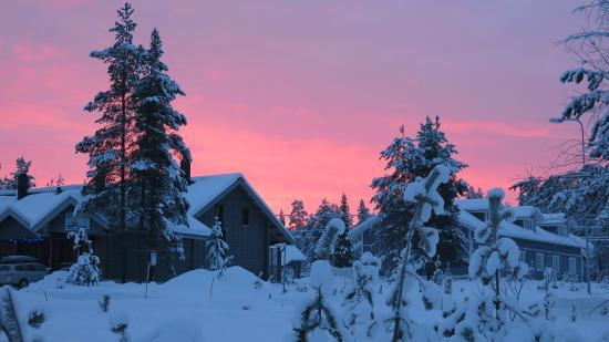 Lapland Hotel Yllaskaltio : Sun set from the hotel