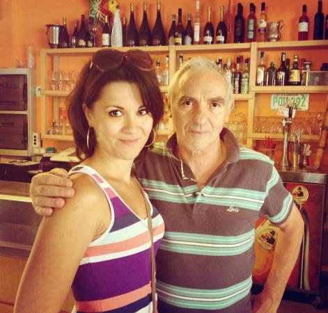 Laglio, Italy: Nearco Folloni, the owner of the Bar Lanterna