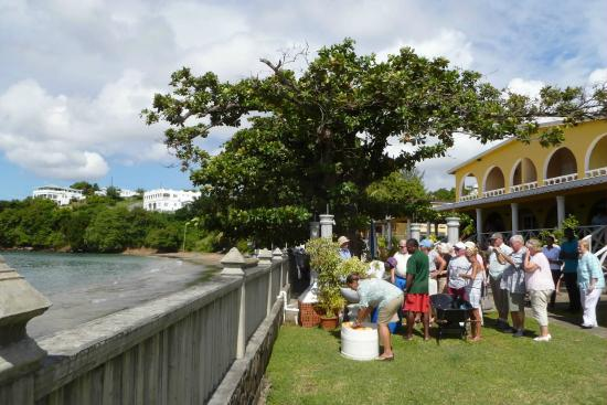 Paradise Beach Hotel : Refreshments on the front lawn of the hotel