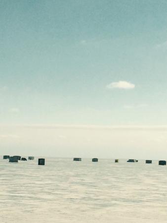 Brainerd, Minnesota: Ice houses on Mille Lacs.
