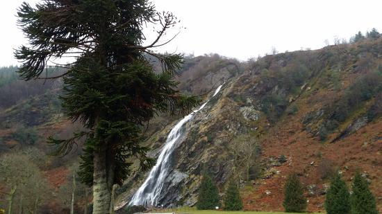 Powerscourt Waterfall: Prima Kulisse