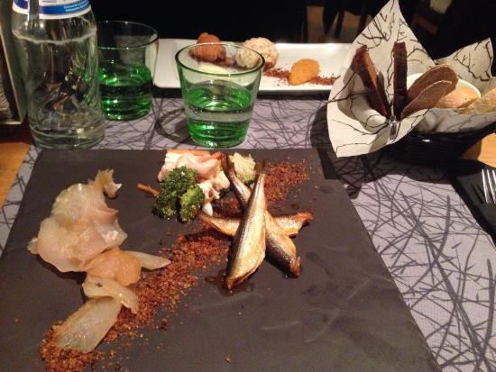 Kaarna: Starters (Nordic Fish plate and salmon)