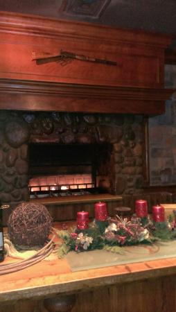 Fireplace at the Roaring Fork.