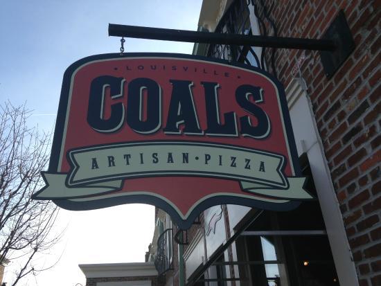 Coals Artisan Pizza: The sign!