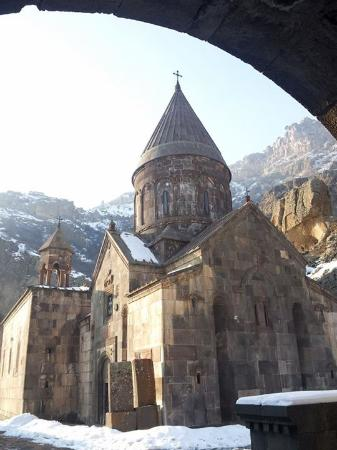 The Monastery of Geghard: snow shot