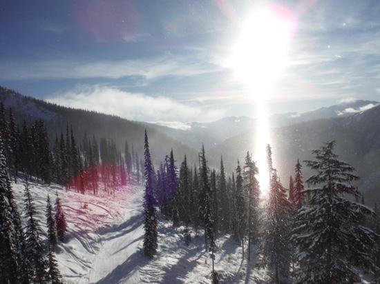 Whitewater Ski Resort: glory chairlift view