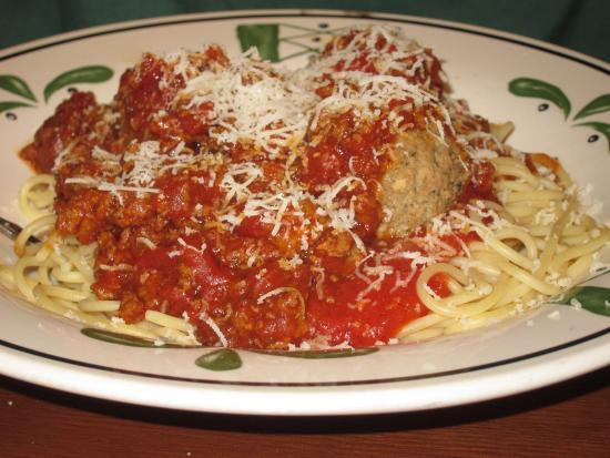 Delicious five cheese ziti children 39 s tortellini and - Olive garden spaghetti and meatballs ...