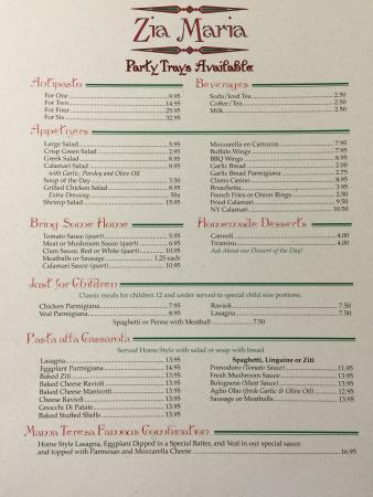 Canaan, CT: Menu
