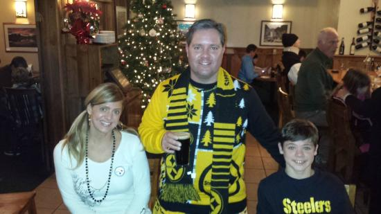 Happy Stillers Family at CJ's Grill!