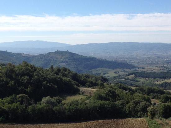 Alla Madonna del Piatto: View of Assisi from our window