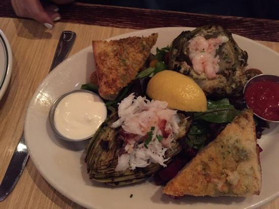 Woodhouse Fish Company: grilled stuffed artichokes