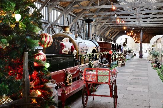 Didcot Railway Centre: Father Christmas's Grotto in the Transfer Shed