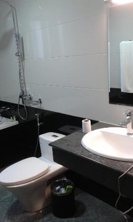 Ngwe Moe Hotel Mawlamyine : Western toilet.