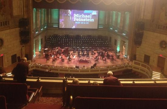 Eastman Theatre: If you are up this high it doesn't hurt to bring binoculars