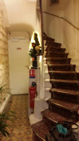 Hotel de Lille- louvre: The never ending staircase. Be prepared to lug your bags up it.