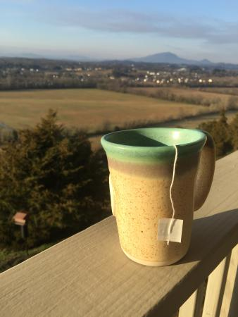Braeside Inn : Morning tea on the porch!