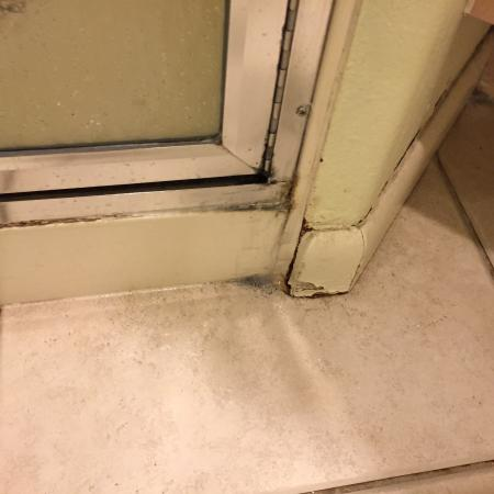 Lido Beach Resort: Black mold all around moldings in bathroom and shower